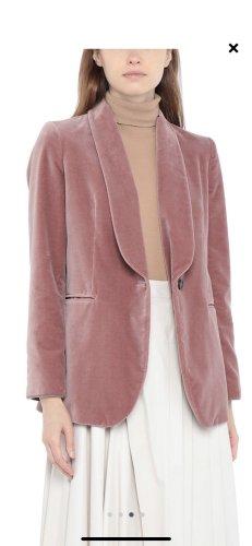 Brunello Cucinelli  Samt Velvet Jacke Jackett Blazer rose rosa lang klassisch M 38