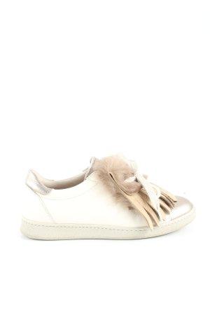Brunello Cucinelli Sneaker stringata bianco sporco-argento stile semplice