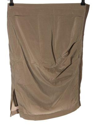 Brunello Cucinelli Silk Skirt brown casual look