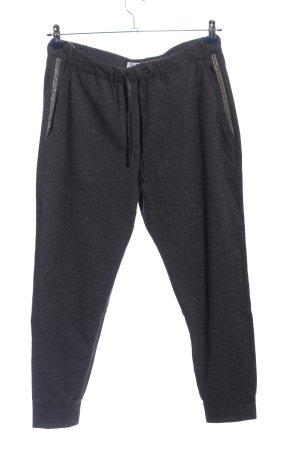 Brunello Cucinelli pantalonera negro-color plata moteado look casual