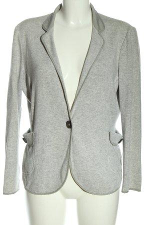 Brunello Cucinelli Blazer in maglia grigio chiaro puntinato elegante
