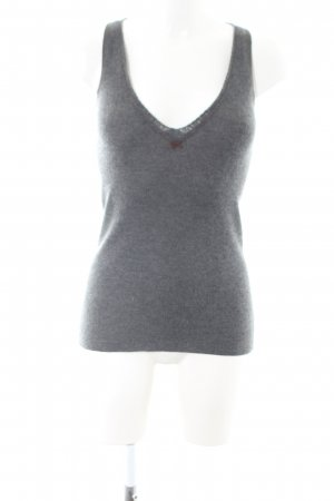 Brunello Cucinelli Knitted Top light grey flecked casual look