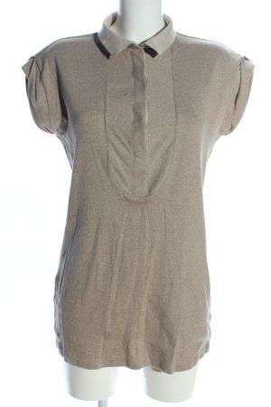Brunello Cucinelli T-Shirt hellgrau meliert Casual-Look