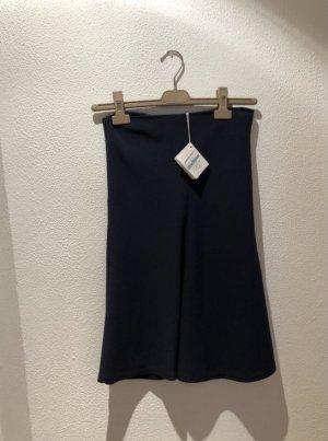 Brunello Cucinelli Jupe mi-longue bleu laine