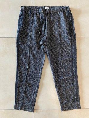 Brunello Cucinelli Pantalon en laine brun noir-argenté