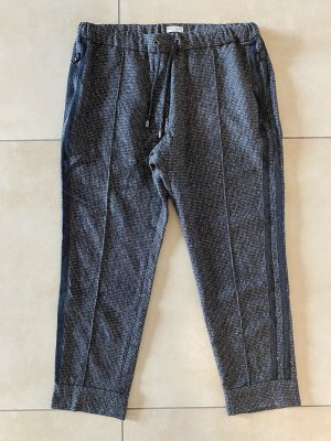 Brunello Cucinelli Pantalón de lana marrón-negro-color plata