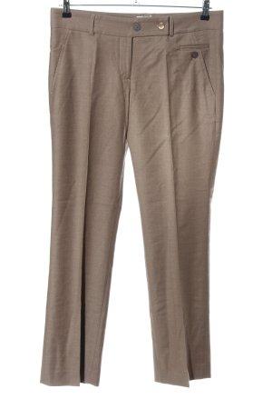 Brunello Cucinelli Pantalone di lana marrone stile professionale