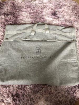 Brunello Cucinelli Borsa di tela grigio-grigio chiaro