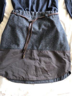 Brunello Cucinelli Wool Skirt dark grey-black brown