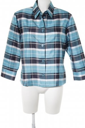 Brunetti Jedwabna bluzka Wzór w kratkę Ekstrawagancki styl