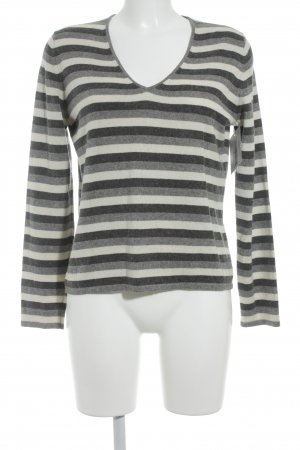 Brunetti Sweter z dekoltem w kształcie litery V Wzór w paski W stylu casual