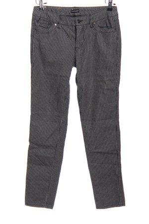Bruno Banani Slim Jeans black-white striped pattern casual look