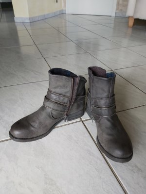 Bruno Banani Ankle Boots anthracite leather