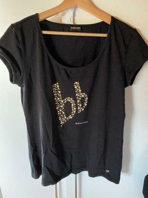 Bruno Banani T-Shirt black-gold-colored