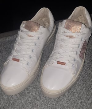 Bruno Banani Sneakers met veters wit-roségoud