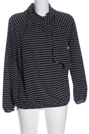 Bruno Banani Hemd-Bluse schwarz-weiß abstraktes Muster Elegant