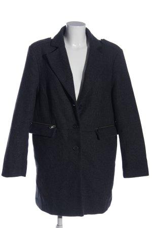 Bruno Banani Krótki płaszcz czarny Melanżowy W stylu casual