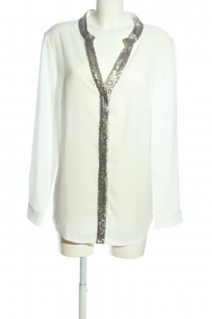 Bruno Banani Long Sleeve Blouse white-silver-colored business style