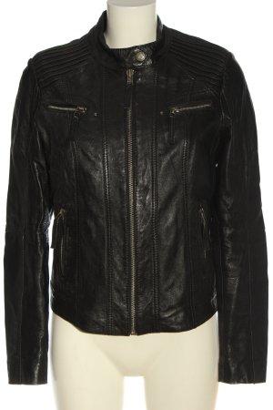 Bruno Banani Leather Jacket black casual look