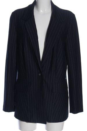Bruno Banani Long-Blazer schwarz-weiß Streifenmuster Business-Look