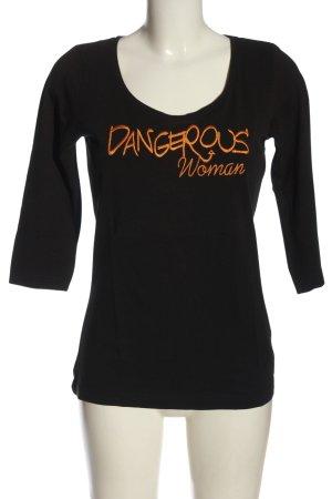 Bruno Banani Longsleeve black-light orange embroidered lettering casual look