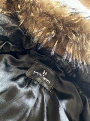 Bruno Banani Leather Coat black leather