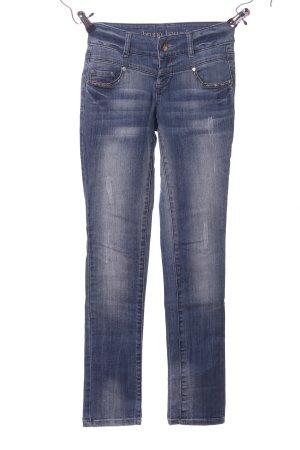 Bruno Banani Straight-Leg Jeans blau Casual-Look