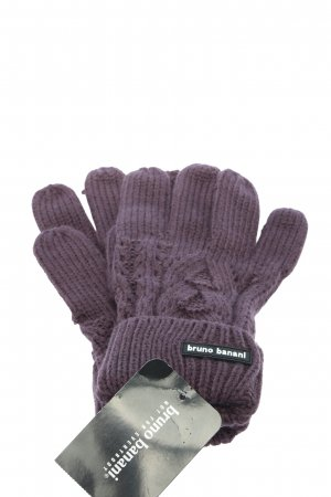 Bruno Banani Knitted Gloves lilac cable stitch casual look