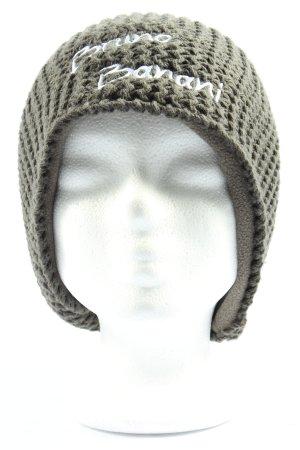 Bruno Banani Cappello a maglia grigio chiaro-bianco punto treccia stile casual