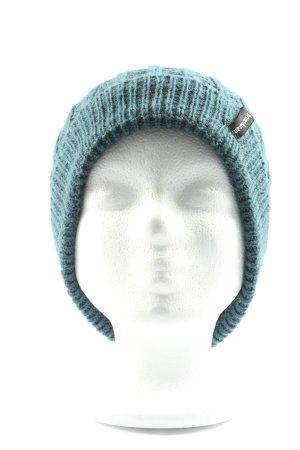 Bruno Banani Cappello a maglia blu punto treccia stile casual