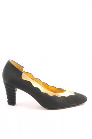 Bruno Magli Classic Court Shoe black-gold-colored casual look