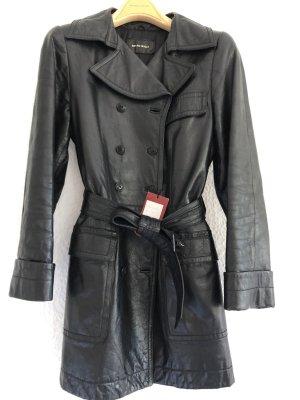 Bruno Magli Leren jas zwart