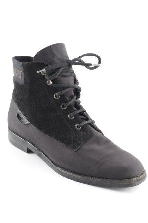 Bruno Magli Sandały sznurowane czarny-ciemnobrązowy W stylu casual