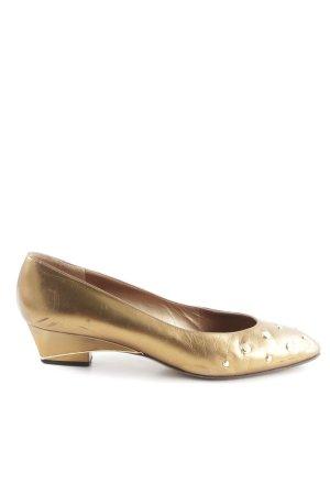 Bruno Magli Wedges Sandaletten goldfarben Business-Look