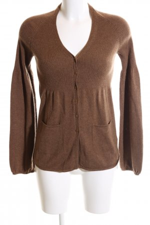 Bruno Manetti Cardigan braun meliert Casual-Look