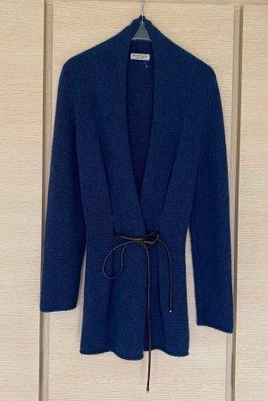 Bruno Manetti Knitted Cardigan dark blue-blue