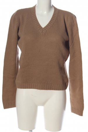 Bruno Manetti Pullover all'uncinetto marrone stile casual