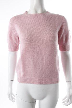 Jersey de manga corta rosa Cachemir