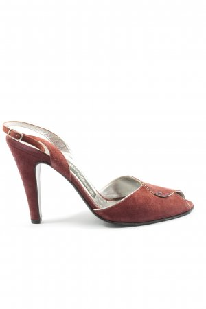 Bruno Manetti Peep Toe Pumps rood casual uitstraling