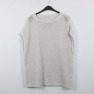Bruno Manetti Oversized Sweater pale yellow-white mixture fibre