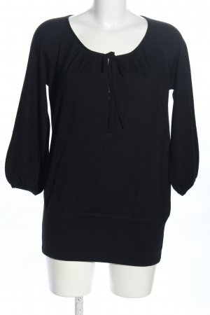 Bruno Manetti Wollpullover schwarz Casual-Look