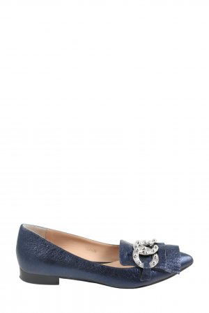 Bruno Premi Ballerinas with Toecap blue casual look