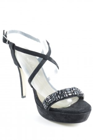 Bruno Premi High Heels schwarz Glitzer-Optik