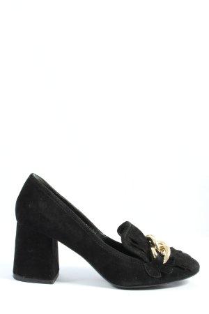 Bruno Premi Chaussure à talons carrés noir style décontracté