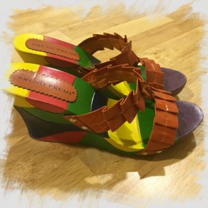 Bruno Premi Heel Pantolettes multicolored leather