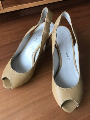 Bruno Premi Peep Toe Pumps sand brown