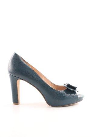Bruno Premi Peep Toe Pumps blauw casual uitstraling