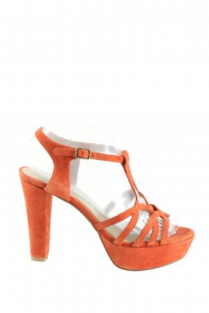 Bruno Premi Platform High-Heeled Sandal light orange elegant
