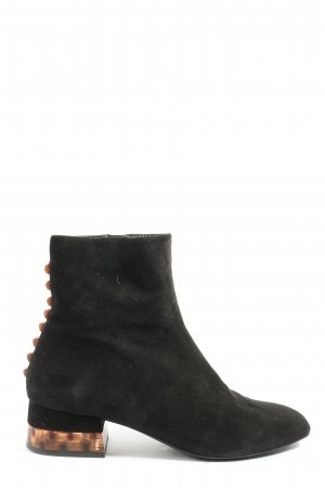 Bruno Premi Zipper Booties black-nude casual look