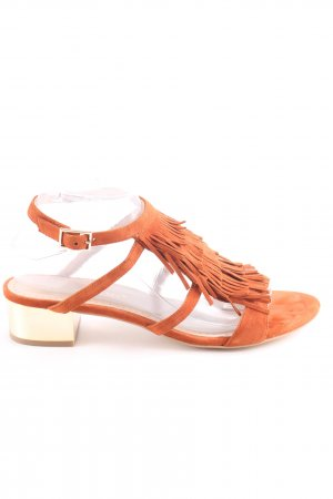 Bruno Premi Strapped High-Heeled Sandals light orange casual look